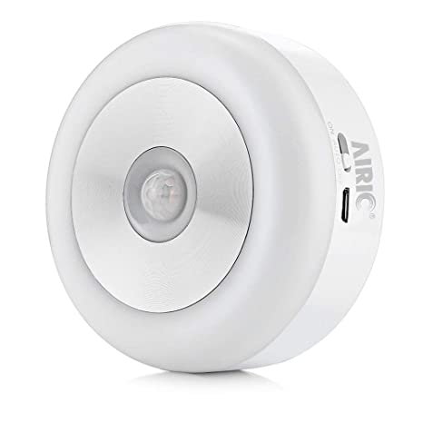 Luz de Sensor Recargable USB, AIRIC Sensor de Movimiento Luces Interior LED Luz de noche