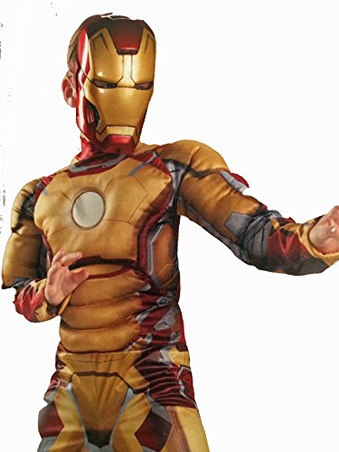 Marvel Iron Man 3 Costume with Gloves and Mask, Size 4 - 6 (Iron Man Mask And Gloves compare prices)