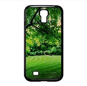 Park Landscape Watercolor style Cover Samsung Galaxy S4 I9500 Case (Spring Watercolor style Cover Samsung Galaxy S4 I9500 Case)