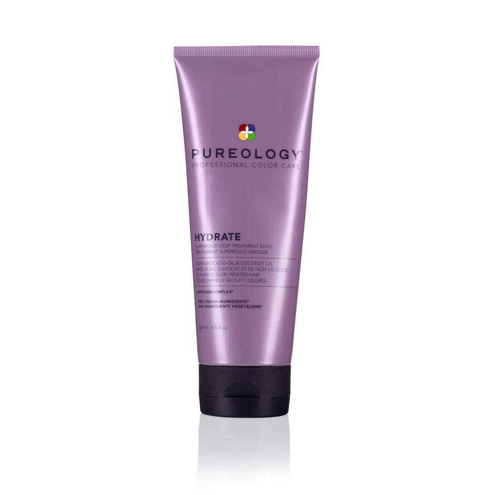 Pureology Hydrate Superfood Treatment Hair Mask | For Dry, Color Treated Hair | Silicone-Free | Vegan