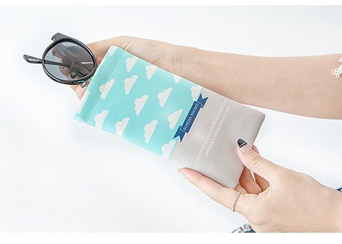 Qingsun Sac de Poche Microfibre de Tissu de Soleil Housse de Rangement pour Lunettes de Soleil uw5eq