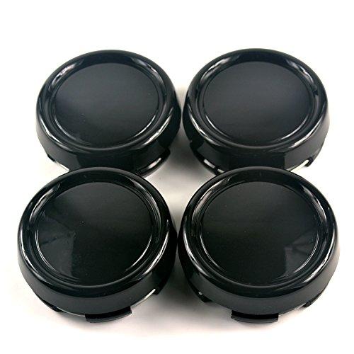 (79mm Black ABS Car Wheel Center Hub Caps Base Set of 4 )