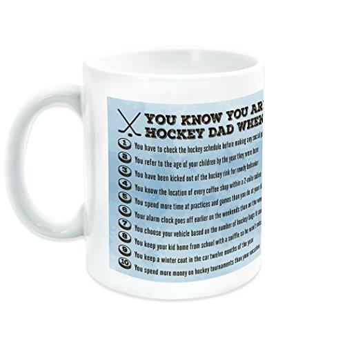 (You Know You're A Hockey Dad When Ceramic Mug   Hockey Coffee Mug by ChalkTalkSPORTS   Ice)