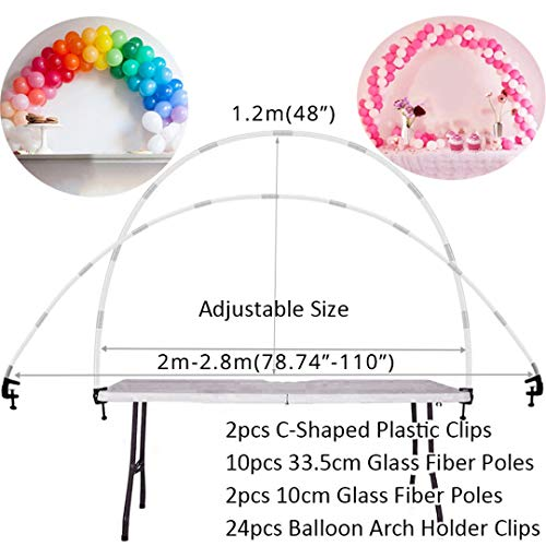 7 Tubes Balloons Holder Column Stand Birthday Party Decorations Kids Adult Birthday Balloons Stand Holder For Wedding Decoration 1Set Balloon Arch -