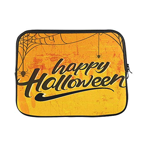 (Design Custom Creative Text of Happy Halloween Or Hand Lettering Sleeve Soft Laptop Case Bag Pouch Skin for MacBook Air 11