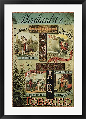 P Lorillard Tobacco by Vintage Apple Collection Framed for sale  Delivered anywhere in USA
