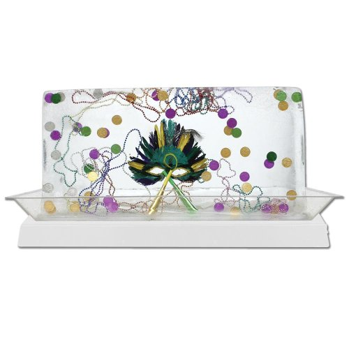 Buffet Enhancements 010LCS55LED-WT 56'' x 24'' x 4'' LED Lighted Ice Display - White Base by Buffet Enhancements
