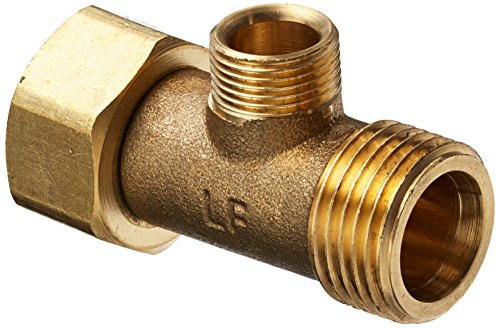 Plumb Pak PP2040LF Water Supply Connector Tee, 1/2 X 1/2 X 3/8 in, FIP X MIP X OD