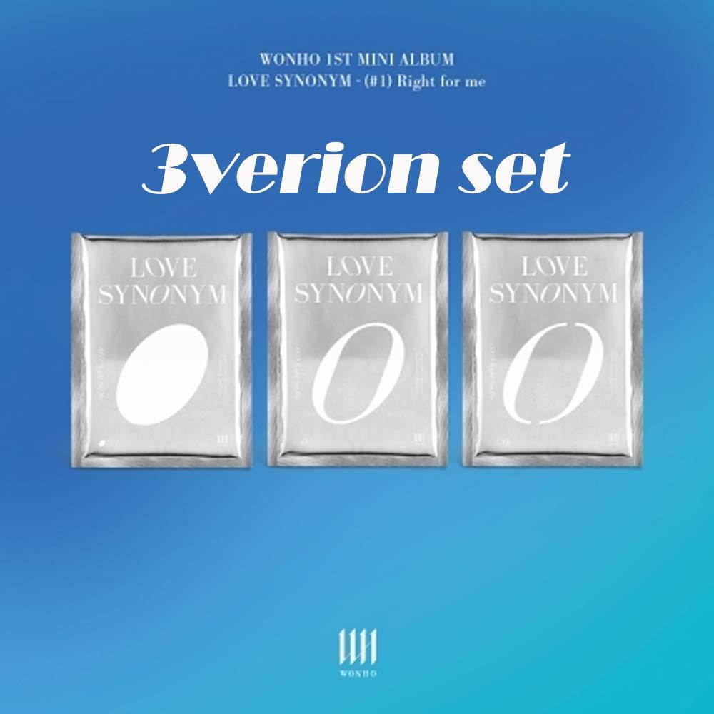KPOP [ 3VERSION Set ] WONHO 1st Mini Album - Love Synonym 1. Right for me 3ALBUM