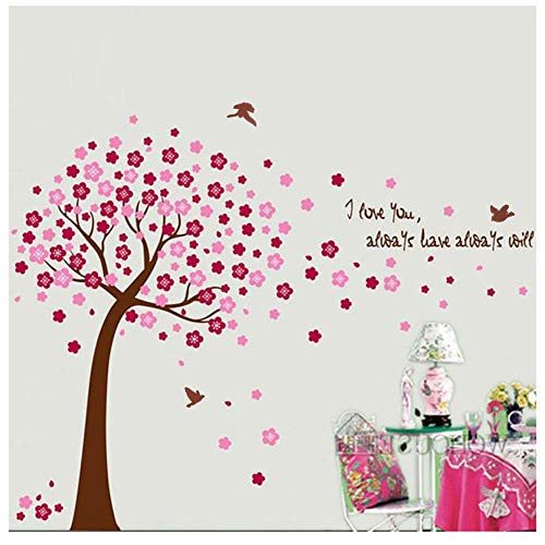 (Wociaosmd Tree Wall Stickers Art Decals Mural Wallpaper Decor Home Room DIY Nursery Decoration (Pink))