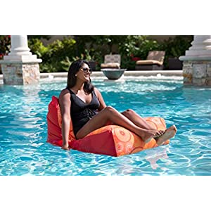 Big Joe Breeze Float Orange Medallion Bean Bag, Multicolor