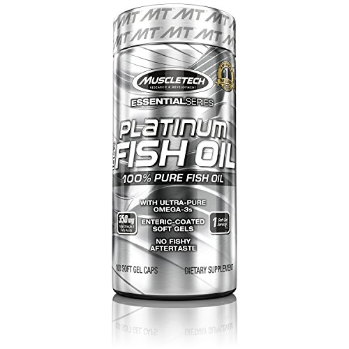 MuscleTech Platinum Fish Oil, 350MG mg Omega 3 Fish Oil Caps