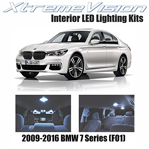 XtremeVision Interior LED for BMW 7 Series (F01) 2009-2016 (12 Pieces) Cool White Interior LED Kit + Installation - 7 Series Bulb Bmw