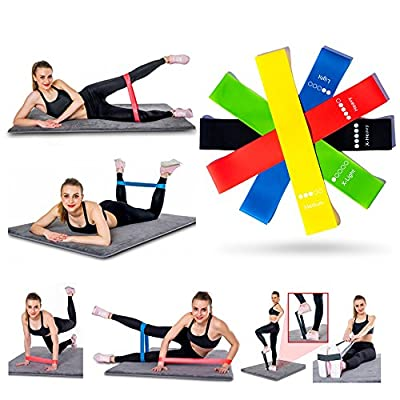 Resistance Bands for Legs and Butt Extra Set 5pcs, Light Medium Heavy Loop Elastic Bands Stretch for Exercise Pull Ups Door, Resistent Workout Bands for Glutes Yoga Crossfit Fitness Physical Traing