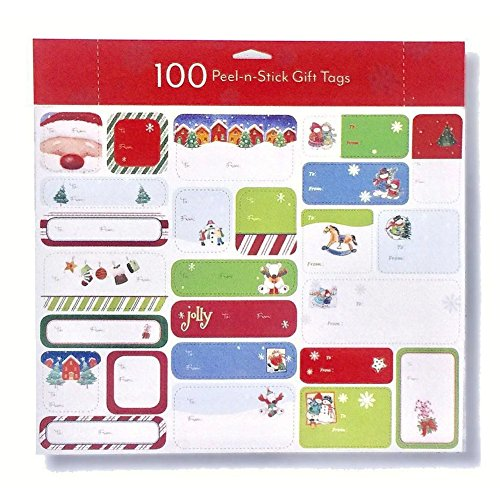Peel-n-Stick Holiday Gift Tags - 100 Gift Tags