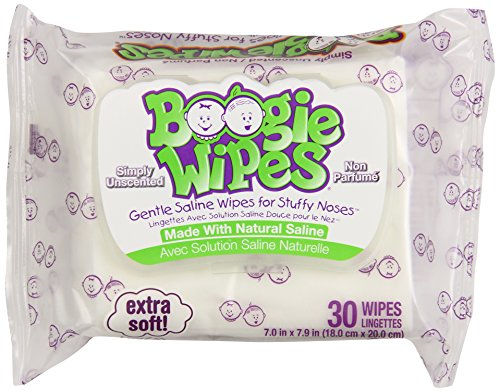 Boogie Infant Wipes, Unscented, 30 Count (Pack of 6)