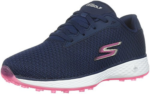 Skechers Performance Women's Go Golf Birdie Golf Shoe, Navy/Pink Mesh, 7.5 W...