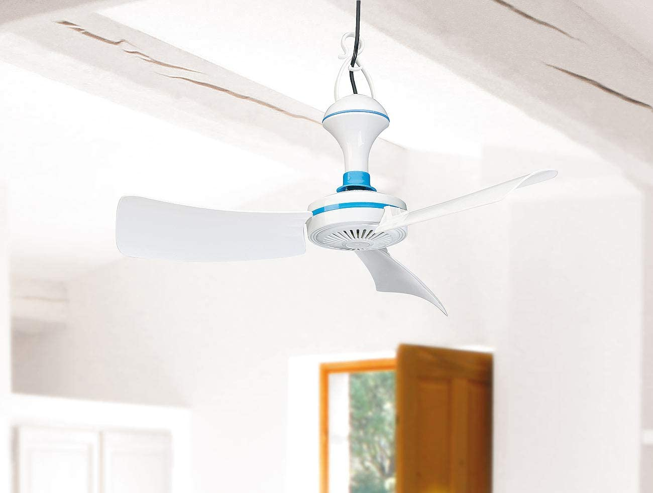 Elektrischer Ventilator PEARL Mobiler Ventilator: Mobiler USB-Deckenventilator mit Aufh/änger 300 U//Min. /Ø 42 cm 5 W
