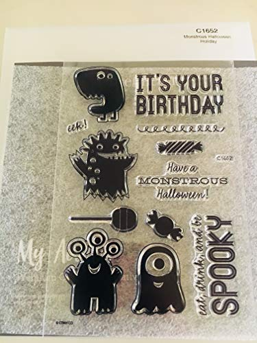 Close To My Heart C1652 Monstrous Halloween Holiday My Acrylix Stamp Set ()