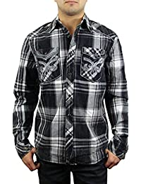 Affliction Men's One Day Left L/S Woven Shirt