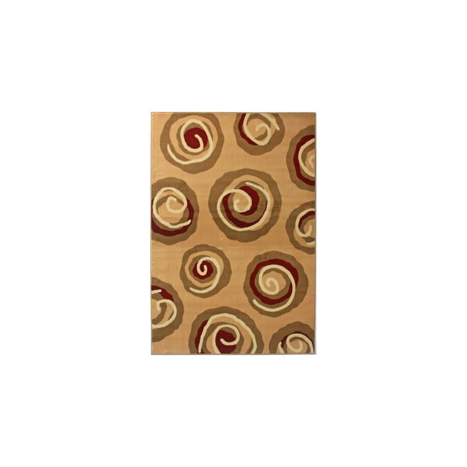 NEW Area Rug Modern Gold 5 3 x 7 9 Modern Swirls