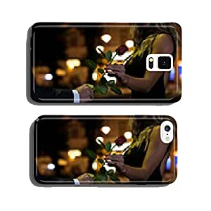 Woman getting rose on first date cell phone cover case iPhone6