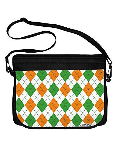 TooLoud Irish Colors Argyle Pattern Neoprene Laptop Shoulder Bag All Over Print