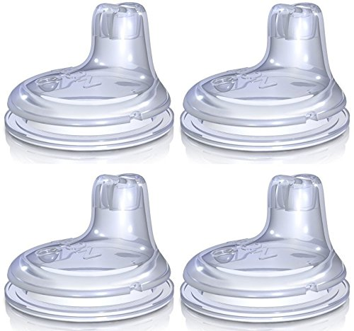 Nuby Replacement Silicone Spouts 4 Pack