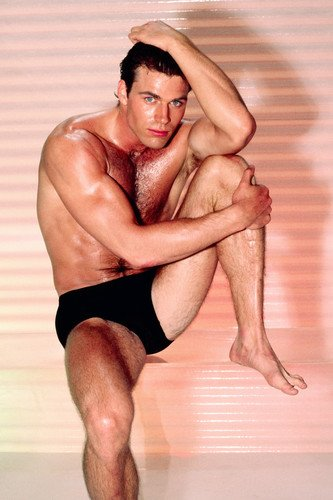 Jon-Erik Hexum Barechested Hunky Pin Up In Black Briefs Rare Photo 24X36 Poster from Silverscreen