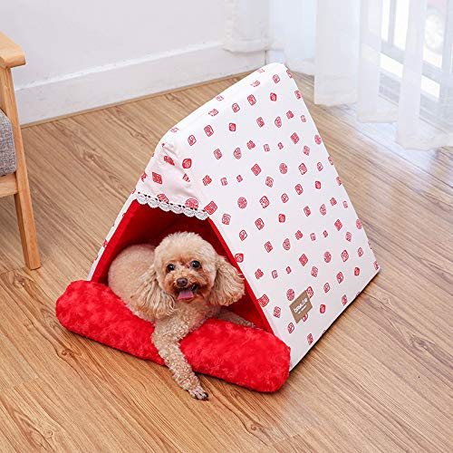 Triangle pet nest cat Litter Dog House Warm Padded Kennel mat Small Dog 5:605055cm