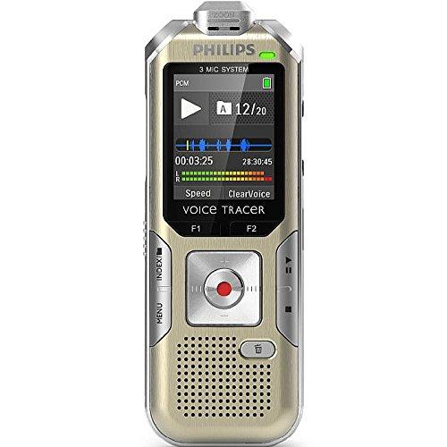 (Philips Voice Tracer DVT8000/00 Digital Voice Recorder, Gold)