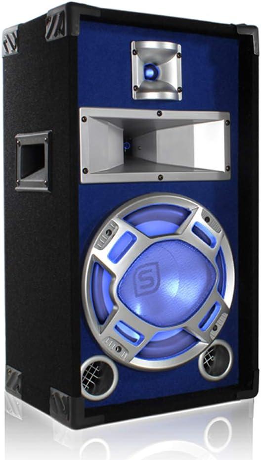 Skytec 10 Passive Blue LED DJ PA Speaker 400W PA & Stage Musical ...