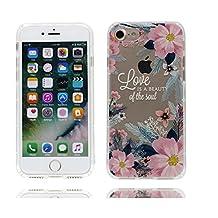 iPhone 6S étui, iPhone 6 Coque,iPhone 6 case,iPhone 6S cover,Ultra Slim Premium Flexible Gel de silicone doux TPU Skin Cute Cartoon Housse de protection pour iPhone 6 / 6S -Fleur pattern