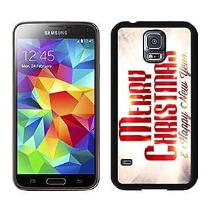Custom-ized Design Merry Christmas Black Samsung Galaxy S5 Case 81