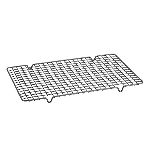 Cooling Rack Nonstick Baking Rack Square Stainless Steel Wire Tight-Grid Design for Cooking Grilling Drying (12'' x 17'') by Little World