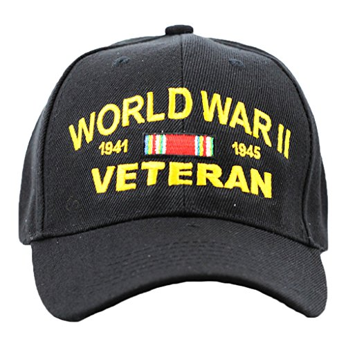 WWII Veteran Hat For Men and Women, Military Collectibles, Military Apparel ()