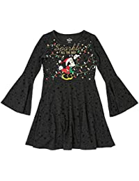 Disney Santa Sparkle All The Way Christmas Girls Dress