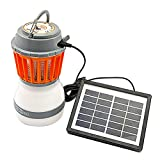 US-PopTrading Mosquito Killer Lantern,Portable Solar Powered USB Rechargeable LED Tent Lights, Multifunctional Repellent Light Lamp For Outdoor Camping