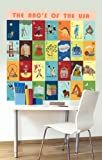 Oopsy Daisy Murals That Stick The ABC's of The USA by Jenny Kostecki Shaw, 54 by 54-Inch