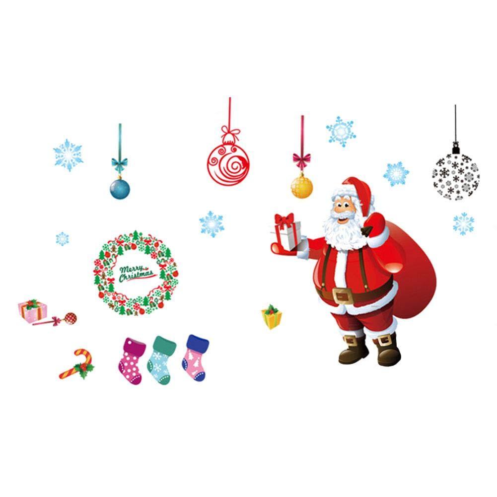 iStary 2018 Wundervoll Weihnachtsaufkleber Aufkleber Weihnachten Explosion Fenster Glas Wohnzimmer Wandtattoo Weihnachtsverpackung Adventsaufkleber EC01294_TWiSS