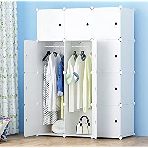 JOISCOPE MEGAFUTURE Portable Wardrobe for Hanging Clothes, Combination Armoire, Modular Cabinet for Space Saving, Ideal…
