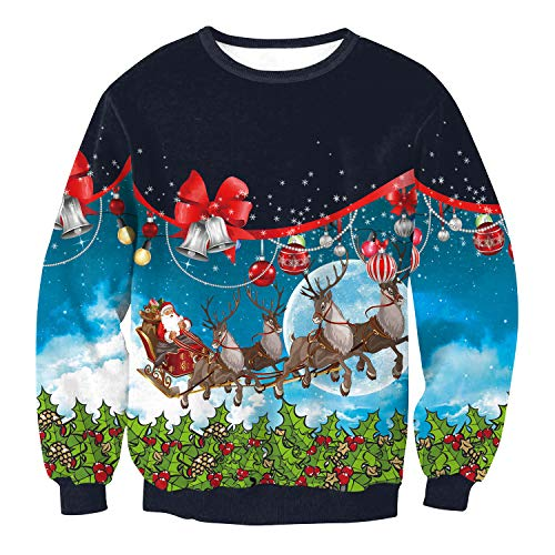 Price comparison product image Caopixx 2019 Men Women Ugly Christmas Pullover Sweatshirts 3D Digital Printed Graphic Long Sleeve Shirts