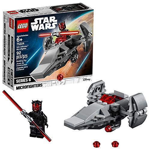 LEGO Star Wars Sith Infiltrator Microfighter 75224 Building Kit , New 2019 (92 Piece) (Lego Star Wars Double Sets)