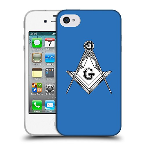 GoGoMobile Coque de Protection TPU Silicone Case pour // Q09620608 Franc-maçonnerie 2 Azur // Apple iPhone 4 4S 4G