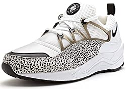 Nike Women's Air Huarache Light Running Training Shoes-White/Black-8.5