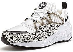 Nike Women's Air Huarache Light Running Training Shoes-White/Black-6.5