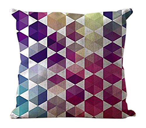 LOOKTY Multi Color Triángulos Almohada para cojín Lino ...