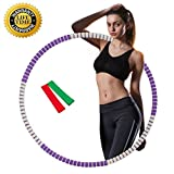 Liberry Hula Hoop for Adults,2-5 lbs Adjustable Weighted Hula Hoop,The Latest Popular Hula Hoop in 2018,3 Styles and 6 Colors Optional(Purple)