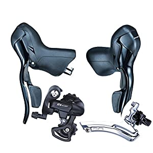 microSHIFT Road Bike Shifters SB R472 Double 2X7 Speed Lever Brake Bicycle Derailleur Groupset Compatible for Shimano