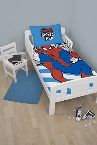 Spiderman Hang 2 Piece Uk Junior/us Toddler Duvet Cover (Spider Man Toddler Bedding)